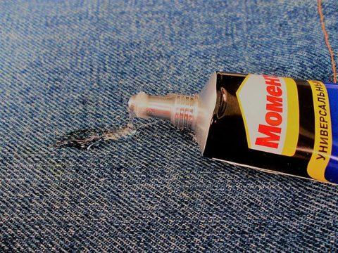 Как вывести пятно от клея