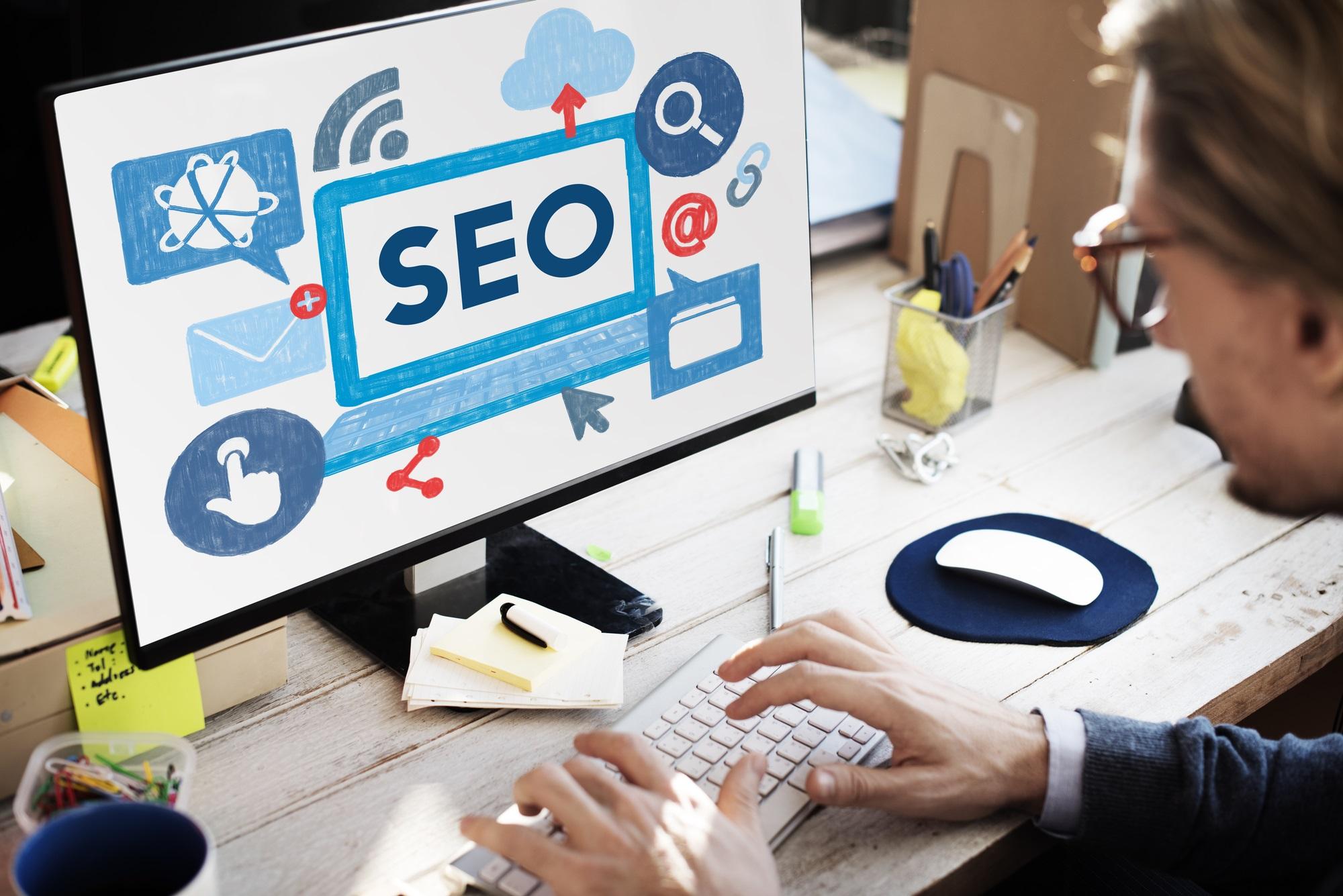 Search Engine Optimization Business Data Digital Concept